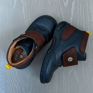 Ecco Boys Toddler Boots Navy Blue Brown Size 23